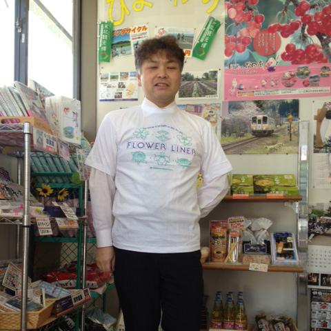 開業記念!フラワー長井線Tシャツイメージ