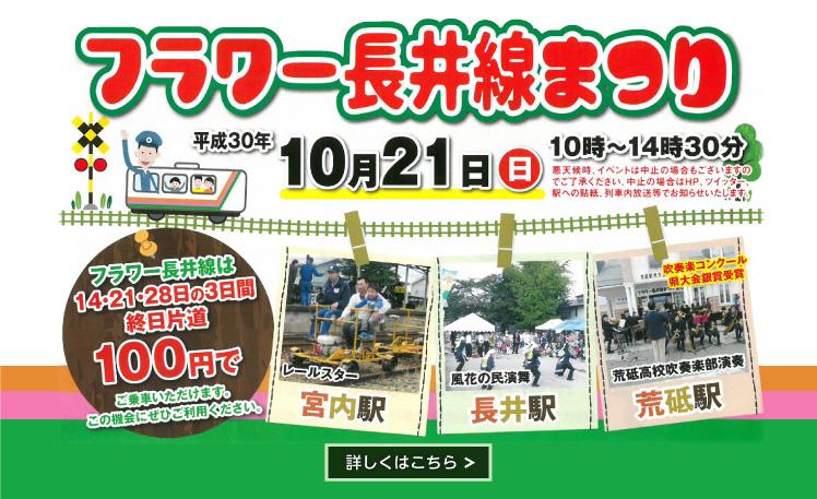フラワー長井線祭り2018