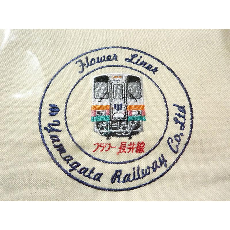 山形鉄道オリジナルトートバッグ-内ポケット付イメージ2